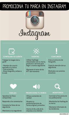 #Infografia #CommunityManager Promociona tu marca con instagram. #TAVnews