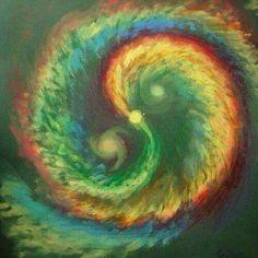 Tie dye look yin yang