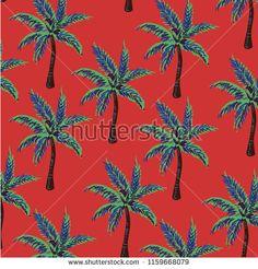 palm tree pattern - bu vektörü Shutterstock'ta satın alın ve başka görseller bulun. Tree Patterns, Palm Trees, Flowers, Image, Palm Plants, Royal Icing Flowers, Flower, Tree Templates, Florals