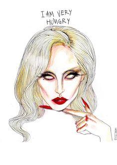 #Lady #Gaga #Countess #AHS artwork by the talented Lucas David. ~ lucasdavid.bigcartel.com ~