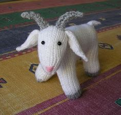"Justjen's ""Fester The Whole Goat"". Free knitting pattern. #knitting, #toy, #goat"