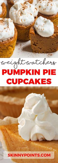 Pumpkin Pie Cupcakes – Only 3 Weight Watchers SmartPoints