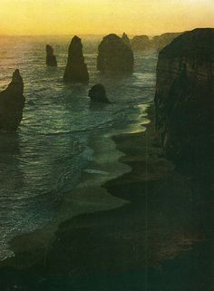 Twelve Apostles rocks along the shoreline of Port Cambell National Park in Victoria, Australia    National Geographic | February 1971