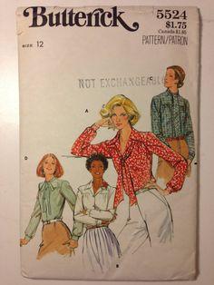Butterick Pattern 5524 Misses Blouse Size 12 by SplashOfLuv, $6.99
