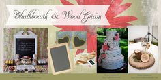 Chalkboards and Wood Grains: Rustic Bridal Shower Decor DIY Decorations