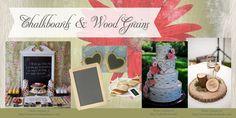 Chalkboards and Wood Grains: Rustic Bridal Shower Decor DIY Decorations