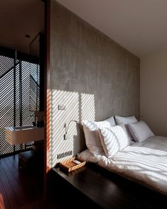 Love the wall texture, cooling and peaceful. Simple. Paint?