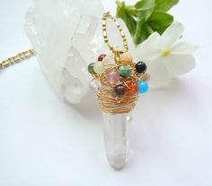 A Crown of Gemstone Melody Raw Crystal Point by NaturalGlam, $59.00