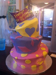 Gluten Free Birthday Cake made with Namaste Foods Vanilla Cake by a very special baker!