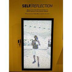 """Self/Reflection  #myself #intheframe #reflections #self #selfie #photographer #photo #illusion #oneplusone #eshwaclick"" Interactive Installation, Human Connection, Illusions, Reflection, Mosaic, Selfie, Instagram Posts, Mosaics, Optical Illusions"