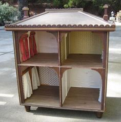 Antique Open Front Large Gothic Doll House | eBay/Correction $2500