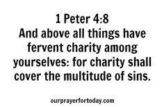 #BibleVerse 1 Peter 4:8