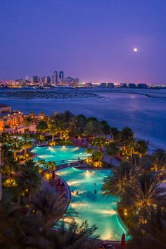 View from Khalidiya Palace Hotel, Abu Dhabi - by Alex Saluk Honeymoon Places, Vacation Places, Dream Vacations, Vacation Spots, Beautiful Places To Travel, Cool Places To Visit, Places To Go, Abu Dhabi, Travel Aesthetic