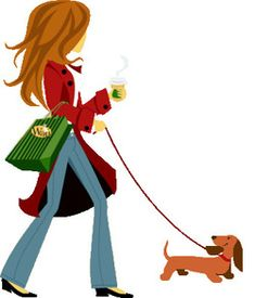 Walking the sweet dachshund! Reminds me of me and my sweet girl Roxy!
