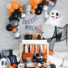 Cheers Witches Halloween Party Decorations    These fun and vibrant festive holiday decorations are PERFECT for upcoming Halloween parties, school parties, birthday parties, and all hollows eve!     Party supplies. decor, signs, balloons, garland, cake toppers, and much more!     CLICK NOW TO PURCHASE>>    #Halloween #partydecor #boo #withces #partysupplies Halloween Backdrop, Halloween Banner, Halloween Table, Halloween Party Decor, Birthday Party Decorations, Holiday Decorations, Balloon Garland, Balloons, Banner Backdrop