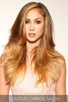 Golden Blonde Hair Color with Balayage Highlights
