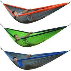 Honey Profession 7 Colors Carrying Nylon Cloth Parachute Hammock Garden Camping Survival Hunting Leisure Travel Hammock Double 270*140 Camp Sleeping Gear Sleeping Bags