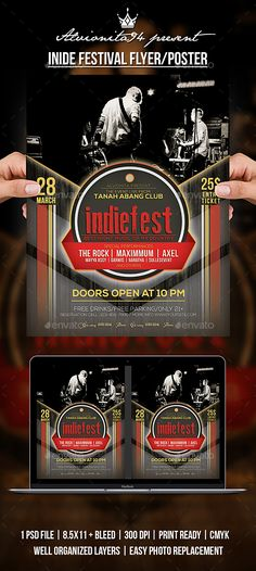 Indie Festival Flyer / Poster — Photoshop PSD #music #urban • Available here → https://graphicriver.net/item/indie-festival-flyer-poster/20618092?ref=pxcr