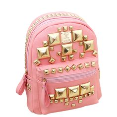 Teen Fashion 3 on Luulla Cute Backpacks, School Backpacks, Fashion Bags, Fashion Backpack, Teen Fashion, Backpack Purse, Cute Bags, Gold Style, My Bags