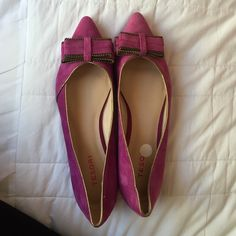 Purple flats! Only worn a couple of times! They still look brand new! Tesori Shoes Flats & Loafers