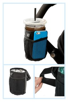 J. L. Childress Cup 'n Stuff Stroller Cup Holder With Chevron Lining In Black - The convenient Cup 'N Stuff Stroller Cup Holder by J.L. Childress allows parents to keep drinks, a cell phone, keys and other small items within easy reach when strolling with their little one. Attaches to all stroller handlebars via an adjustable strap.