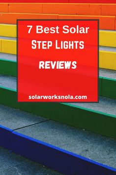 7 Best Solar Step Lights. The steps do not only ad décor to our homes and parks but also protect us from accidents. Wired lights are not suitable for steps and battery lights often stop working after a while. In this condition, solar lights are ideal. Our aim is to make you aware of the best solar step lights so you can install them in your home or any other area. Solar Step Lights, Battery Lights, Solar Products, Green Products, Stop Working, Solar Panels, Solar Power, Outdoor Lighting, Parks
