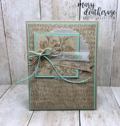 Stampin' Up! Very Vintage Sneak Peek for the Happy Inkin' Thursday Blog Hop | Stamps – n - Lingers