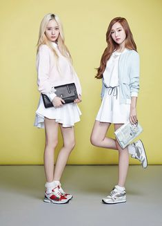 Grils' Generation's Jessica Jung and f(x)'s Krystal Lapalette S/S 2014