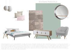 Planche Mobilier Chambre style scandinave et contemporain.  A voir chez Fandefan