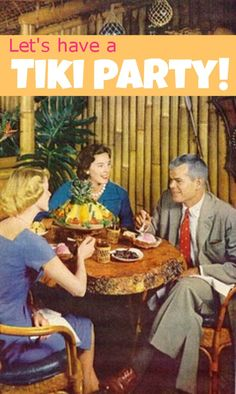 Host a vintage tiki party! Kitschy, yet classy! This adult cocktail party is not to be confused with an all ages luau