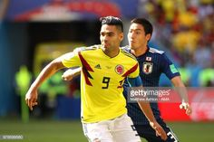 Radamel Falcao of Colombia competes with Gen Shoji of Japan during the 2018 FIFA World Cup Russia group H match between Colombia and Japan at. Carlos Valderrama, Fifa World Cup, Russia, Japan, Group, Sports, Colombia, Hs Sports, Sport