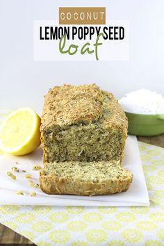Coconut Lemon Poppyseed Loaf  #recipe // thehealthymaven.com #glutenfree