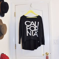 long sleeve wide neck california top 50% cotton 50% rayon nice texture light wear slightly high low opening no trades, trying to down size make an offer! Tops Tees - Long Sleeve