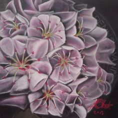 Pastel on Board. Home Art, Succulents, Mountain, Pastel, Board, Artwork, Plants, Cake, Work Of Art