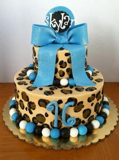 Party Animal 10 inch and 6 inchall buttercreambow and border are fondant as well as topper Animal Birthday Cakes, Birthday Cakes For Teens, 21st Birthday Cakes, Birthday Ideas, Baby Birthday, Cheetah Birthday, Cheetah Party, Birhday Cake, Pastry Cake