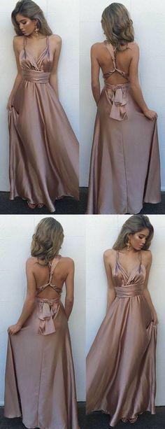 sexy long prom dresses,criss corss back party dress,blush