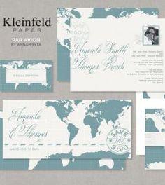 travel-theme invitations.. Love this idea for a destination wedding!