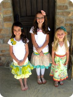 The Life of a Cheap Chickadee: little girl sewing projects