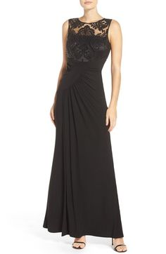 Eliza J Draped Sleeveless Gown available at #Nordstrom