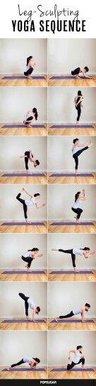 Yoga leg sculpting