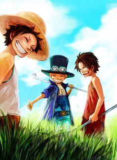 Ace, Sabo and Luffy infancia de las estrellas nacientes