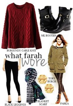 Rustic Chic: What Farah Wore: 2.16.15
