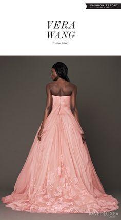 vera wang pink wedding dresses fall 2014 strapless ball gown back detail -- Vera Wang Bridal Fall 2014 Wedding Dresses Pink Wedding Gowns, Wedding Dresses 2014, Wedding Attire, Bridal Gowns, Pink Gowns, Vera Wang Bridal, Vera Wang Wedding, Vera Wang Dress, Beautiful Gowns