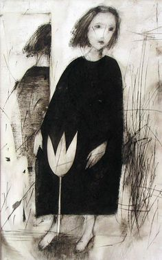 Etching by Marina Terauds.