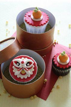 Ratukek - Happy Chinese New Year cupcakes