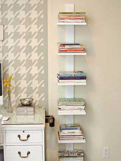 Unas pequeñas tablas te ayudarán a ordenar tus libros o textos.