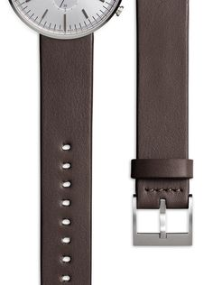 Men's Nappa Calf Leather Watch Strap With a Brown Straight Profile | Uniform Wares