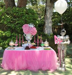 Pink Princess Knight Birthday Party Ideas