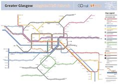 Well done!!! Submission - Fantasy Future Map: Glasgow Integrated Rail by Angus DoyleSubmitted by Angus, who says:I've been working on this map of an integrated rail network for Greater Glasgow of the (imagined) near future for quite some time and now that it's finally finished I'd love to know what you make of it. Shortly after beginning the project I found your blog and I've been regularly trawling through it for inspiration and tips