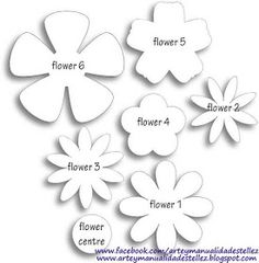 Different flower patterns, maybe for making flower pins? Different flower patterns, maybe for making flower pins? Giant Paper Flowers, Diy Flowers, Fabric Flowers, Flower Paper, Scrapbook Paper Flowers, Wafer Paper Flowers, Paper Flower Tutorial, Spring Flowers, Felt Crafts